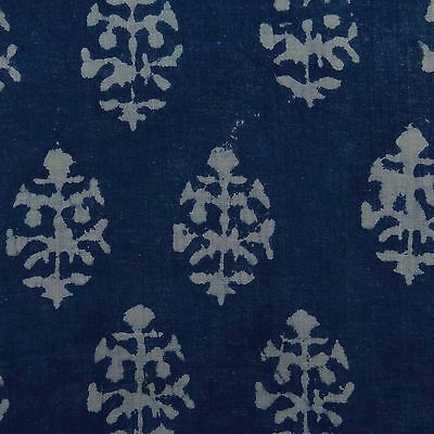 Indian Cotton Voile Fabric Hand Block Print Decorative Crafting Sewing By The Yd