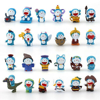 24PCS Mini PVC Figures New Doraemon Doll Collection Toy Gift Display