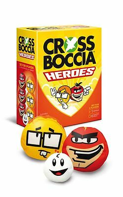 "Crossboccia® Doublepack Heroes 2x3er Set ""Super+Nerd"" Boccia Indoor Outdoor"