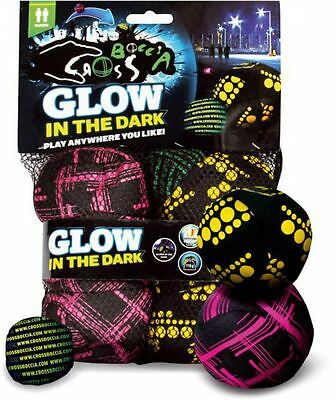 Crossboccia Doublepack PRO Night Glow 2x3er set Cross Boule pink, gelb, grün