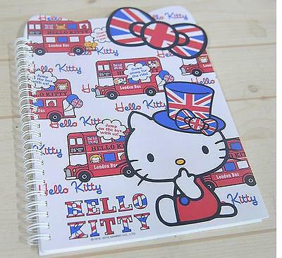Hello Kitty Ribbon Notebook  School Stationery England  (6.6/9.4in)