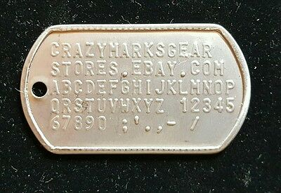 Custom Embossed DOG TAG TAGS USA MADE STAINLESS STEEL MATTE by Military Veteran