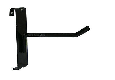 "4"" Gridwall Hooks For Grid Panel Display - Black White or Chrome - FREE SHIPPING"