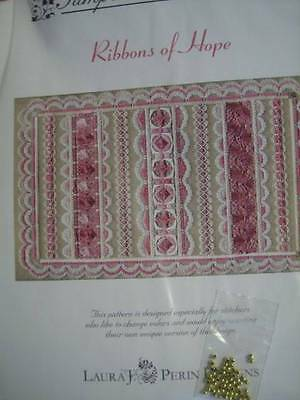 Ribbons Of Hope Canvaswork Needlepoint Pattern -Perin- With Beads From Sampler C