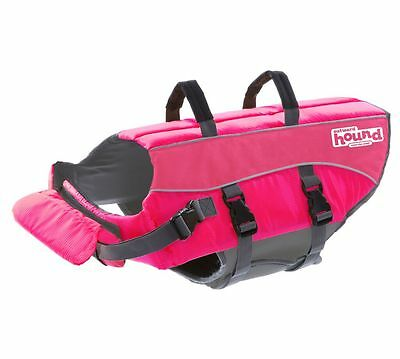 Outward Hound Pink Ripstop Life Jacket Dog Life Preserver, Extra Large