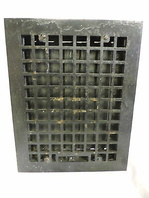 Vintage 1920S Cast Iron Heating Grate Square Design 13.75 X 10.75 M