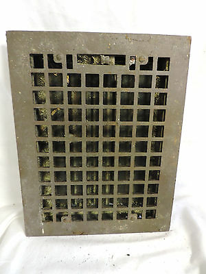 Vintage 1920S Cast Iron Heating Grate Square Design 13.75 X 10.75 Q