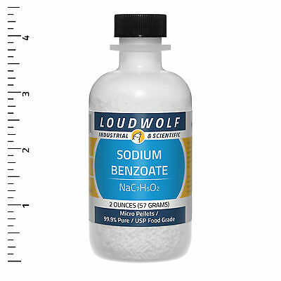 Sodium Benzoate  Ultra-Pure (99.9%)  Micro Pellets  2 Oz SHIPS FAST from USA