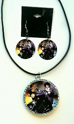 Prince Purple Rain Earring and Necklace set
