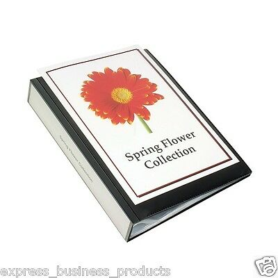 Marbig Clearview A4 Display Books Blue & Black - Assorted Pages