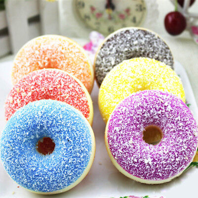 Squishy Squeeze Stress Reliever Soft Colourful Doughnut Scented Slow Rising Toys