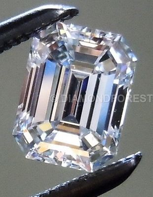 huge 6.00 ct 13.00 mm colorless white genuine loose moissanite Emerald shape
