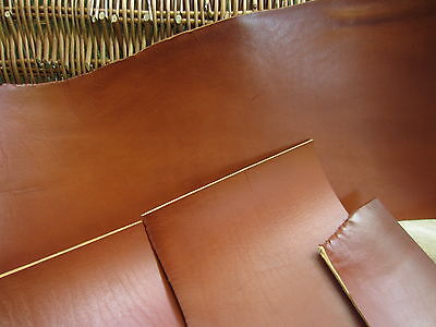 SADDLE TAN FULL GRAIN LEATHER COWHIDE PIECES 3.8mm thick VARIOUS SIZE, craft