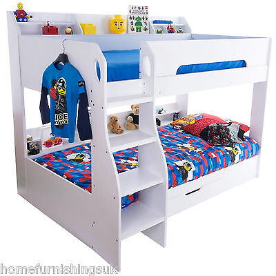 New in | Flair Furnishings Flick Wooden Bunk Bed With Storage - Free Delivery