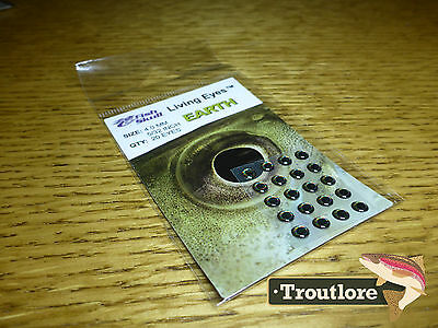 FLYMEN FISH SKULL LIVING EYES EARTH GREEN BROWN 4.0mm - NEW FLY TYING MATERIALS