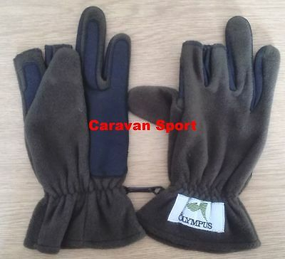 Guanti In Pile E Gomma St008 Size L Olympus Pesca Spinning Inverno Gloves Mare