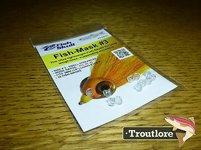FLYMEN FISH SKULL FISH MASK #3 for HOOK SIZE 6, 8 & 10 - NEW FLY TYING MATERIALS