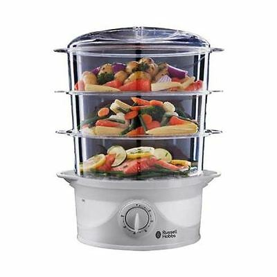 Russell Hobbs 21140 Compact  3-Tier Turbo Design 9L 800W Food Steamer New