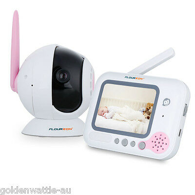 """2.0"""" Audio Video Baby Monitor Wireless Camera Night Vision Safety Viewer Lullaby"""