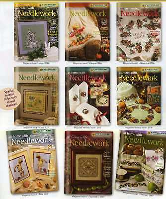 Zweigart's At Home With Needlework Magazine -10 issues