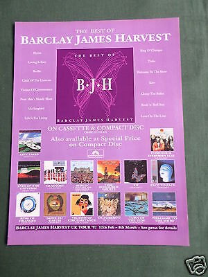 Barclay James Harvest - Magazine Clipping / Cutting- 1 Page Advert-#2