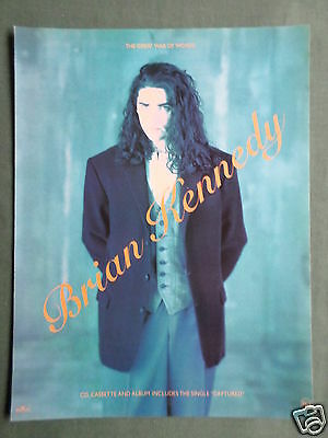 Brian Kennedy - Magazine Clipping / Cutting- 1 Page Advert
