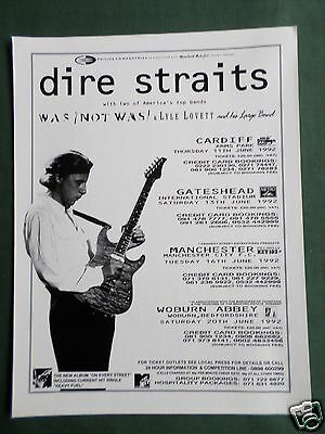 Dire Straits - Magazine Clipping / Cutting- 1 Page Advert