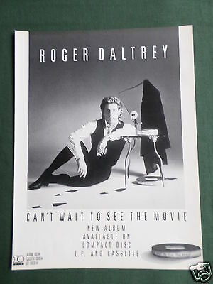Roger Daltrey - Magazine Clipping / Cutting- 1 Page Advert