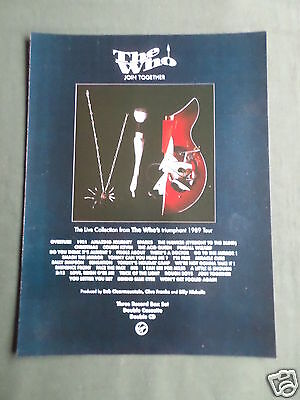 The Who - Magazine Clipping / Cutting- 1 Page Advert