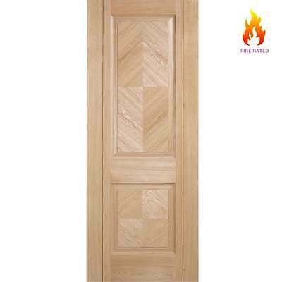 Internal Oak Fire Door MADRID 2 Panel Pre-Finished Modern Wooden Doors FD30  sc 1 st  PicClick UK & INTERNAL OAK Fire Door MADRID 2 Panel Pre-Finished Modern Wooden ...