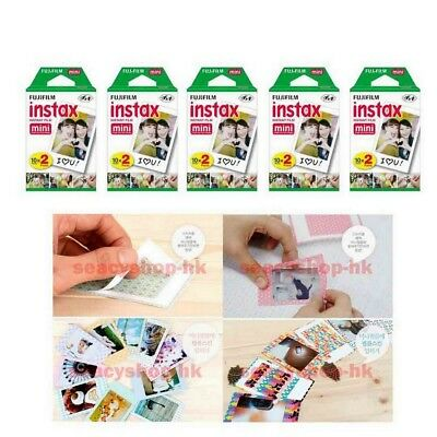 10 Pack FujiFilm Instax Mini Film,Fuji 100 Instant Photo 7s 8 25 90 Polaroid 300
