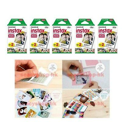 10 Packs FujiFilm Instax Mini Film, Fuji 100 Instant Photos Mini 9 8 7s Neo 90