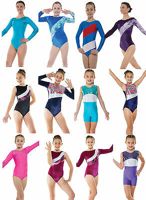 Gymnastics Leotards Lycra Velvet Metallic Gym Leotard Girls Dance Show Unitard