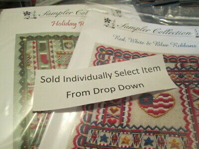 Sampler Collection Ribbons Canvaswork Chart & Embellishments -Laura Perin