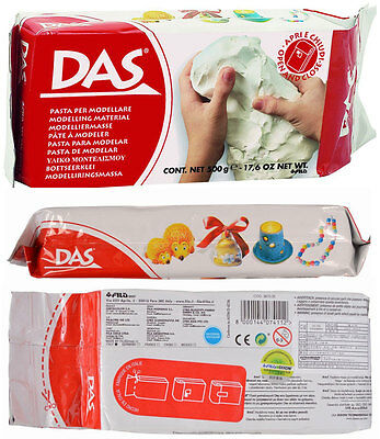 DAS White Air Dry Clay Modelling Sculpting No Baking Self Hardening 500g