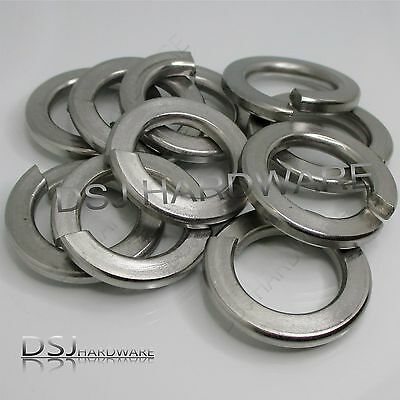 A2 Stainless Steel Split / Spring Washers M3, M4, M5, M6, M8, M10, M12, M16, M20