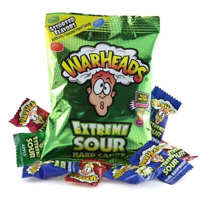 Warheads Extreme Sour Hard Candy Assorted - American Sweets - 56g