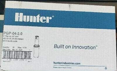 "HUNTER PGP-04-3.0  ULTRA NEW ADJ 4"" ROTOR SPRINKLER 20 HEADS Full Case"