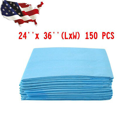 150 PCS Puppy Pet Dog Cat Pads Training Underpads Wee Pee Piddle Pad 24'' x 36''
