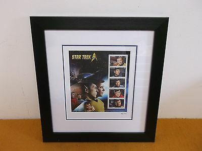 Star Trek 50Th Limited Canada Stamp Pane Collectible Kirk Spock Mckoy Scotty Kor