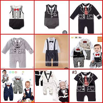 Baby Boy Formal Wedding Tuxedo Suit outfit stylish designs 6-12M,12-18M, 18-24M
