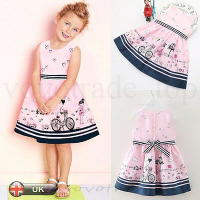 New Kids Toddler Baby Girls Dress Summer Sleeveless Party Princess Pageant Dress