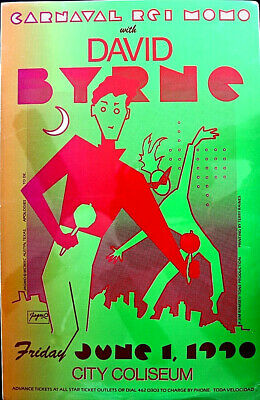 David Byrne 1990 In Austin   - By Jagmo Signed - Original Rare A Beauty