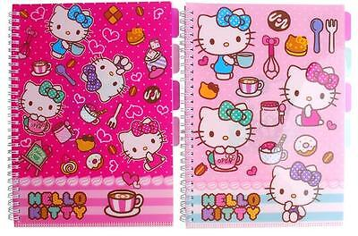New Hello Kitty Note Book with Index File   Pink or Light pink 1Pcs Random