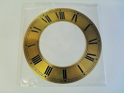 Brass Chapter Ring (Clock Face Or Dial) 152Mm Diameter Roman Black Numerals Cr6B