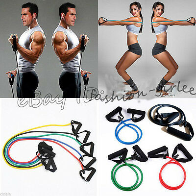1X Fitness Equipment Resistance Bands Tube Workout Exercise Yoga Training Sports