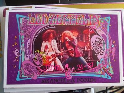 Led Zeppelin June 21-27, 1977 Concert Handbill Postcard Approx 3.5x5.5 Inches