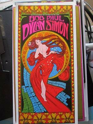 Bob Dylan, Paul Simon July 24, 1999 Concert Handbill Postcard Approx 3.5x7.25 In