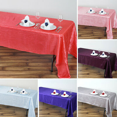 "24 x Wholesale TABLECLOTHS 60x126"" RECTANGLE Crinkled Taffeta Wedding Party"