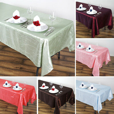 "36 x Wholesale RECTANGLE 60x102"" Crinkled Taffeta TABLECLOTHS Wedding Party SALE"